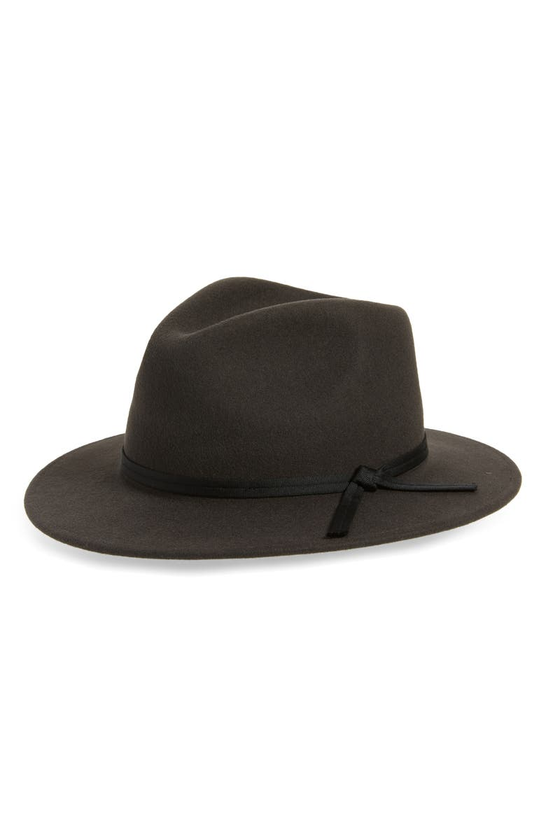 BRIXTON Messer Casual Wool Fedora, Main, color, 001
