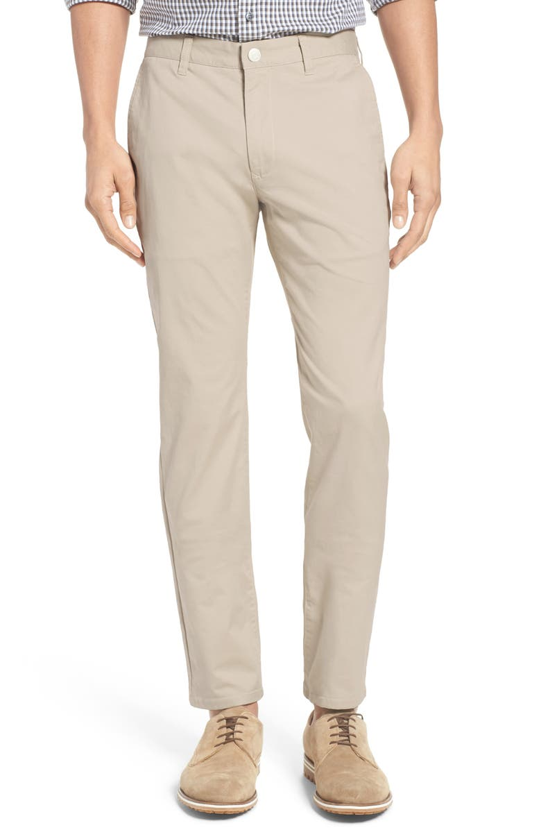 BONOBOS Tailored Fit Stretch Washed Cotton Chinos, Main, color, MILLSTONES