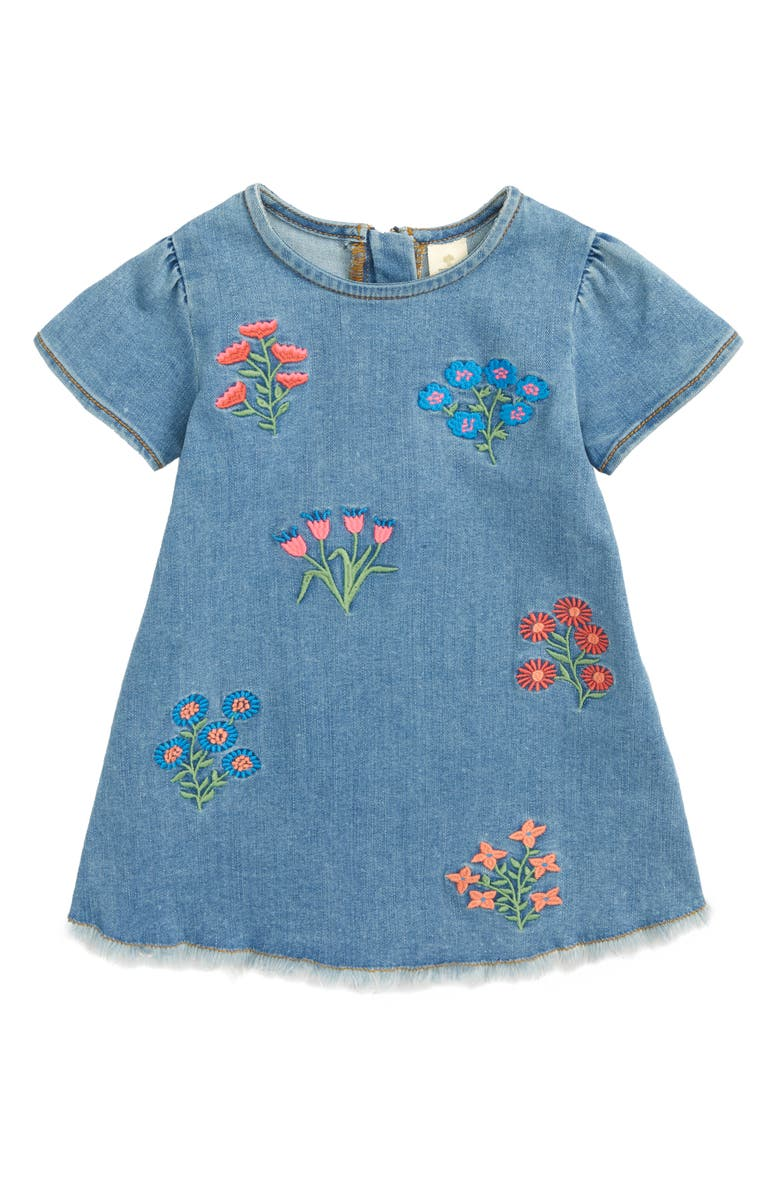 TUCKER + TATE Embroidered Denim Dress, Main, color, 420