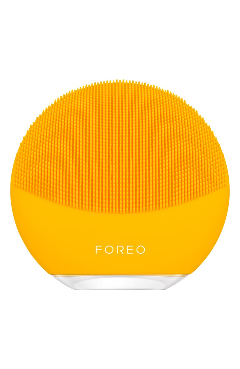 FOREO LUNA<sup>™</sup> mini 3 Compact Facial Cleansing Device, Main, color, SUNFLOWER YELLOW
