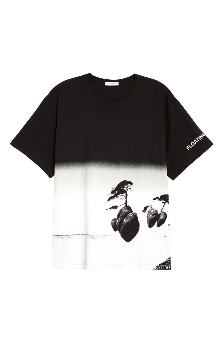 VALENTINO Floating Island Graphic Tee, Main, color, 002