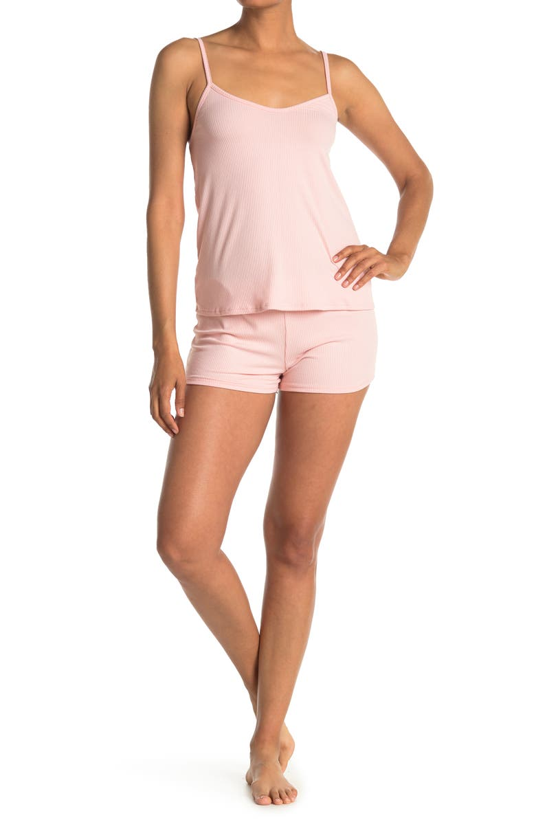 COZY ROZY Sunkissed Camisole & Shorts 2-Piece Pajama Set, Main, color, DREAM PINK