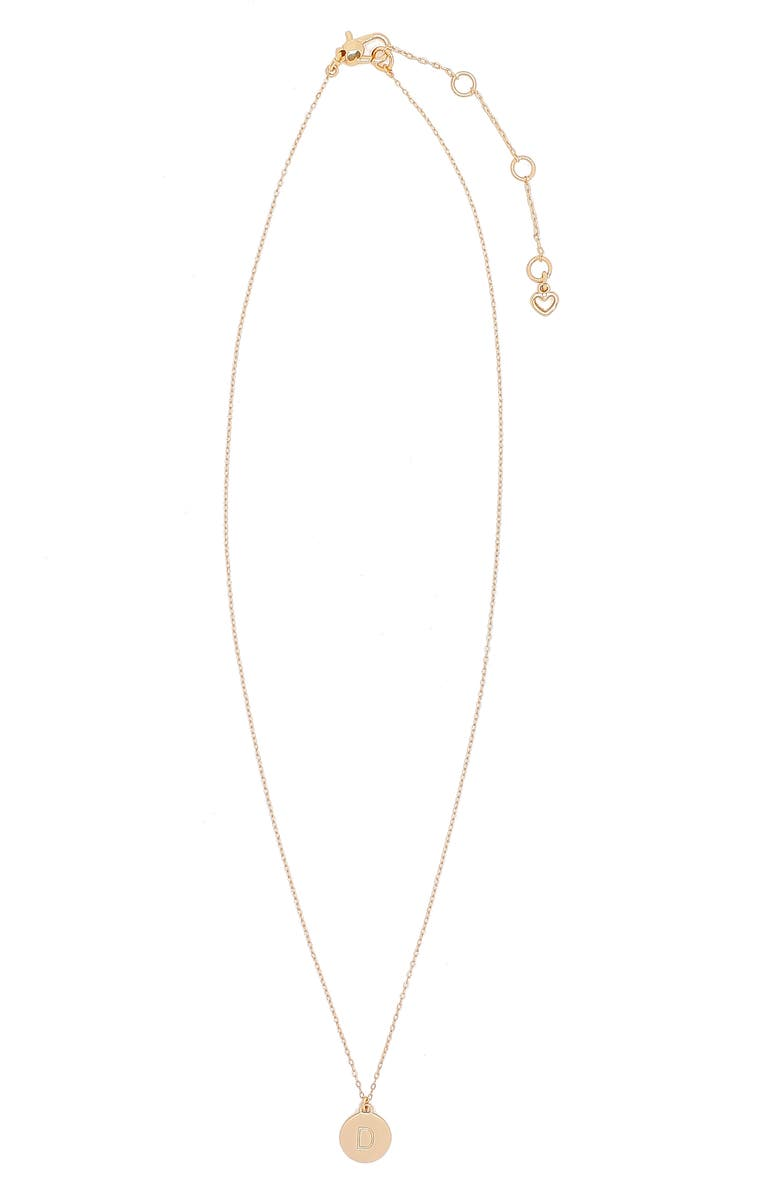 KATE SPADE NEW YORK mini initial pendant necklace, Main, color, GOLD - D
