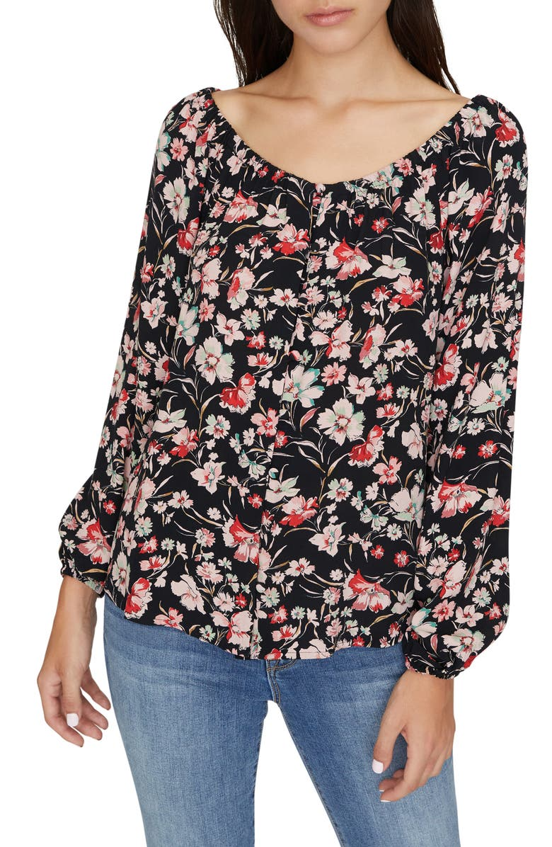 SANCTUARY Genevieve Floral Top, Main, color, 003