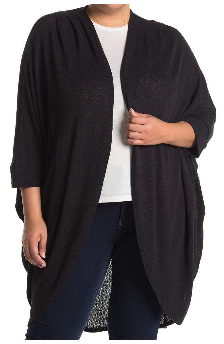 14TH AND UNION Lightweight Cocoon Cardigan, Main, color, BLACK