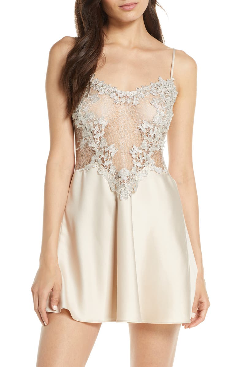 FLORA NIKROOZ Showstopper Chemise, Main, color, CHAMPAGNE