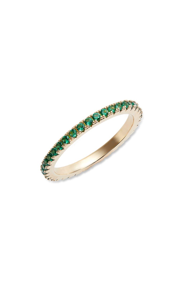 NORDSTROM Pavé Eternity Band, Main, color, GREEN- GOLD
