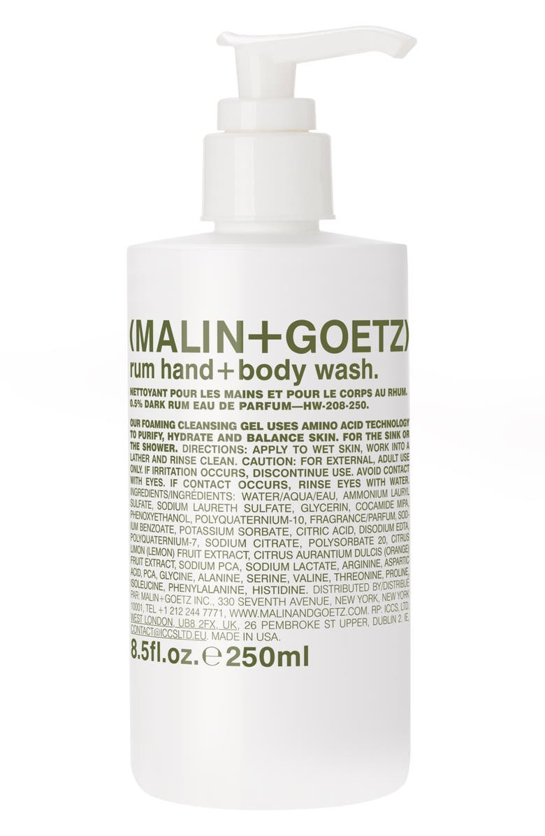 MALIN+GOETZ MALIN + GOETZ Rum Hand & Body Wash with Pump, Main, color, NO COLOR