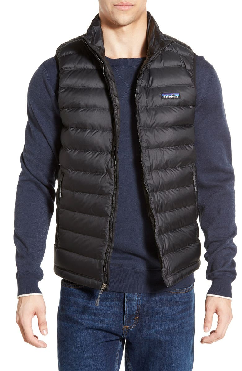 PATAGONIA Windproof & Water Resistant 800 Fill Power Down Quilted Vest, Main, color, 001