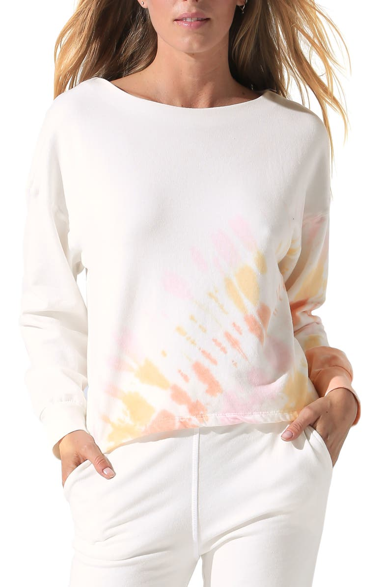 ELECTRIC & ROSE Tahoe Tie Dye Pullover, Main, color, 105