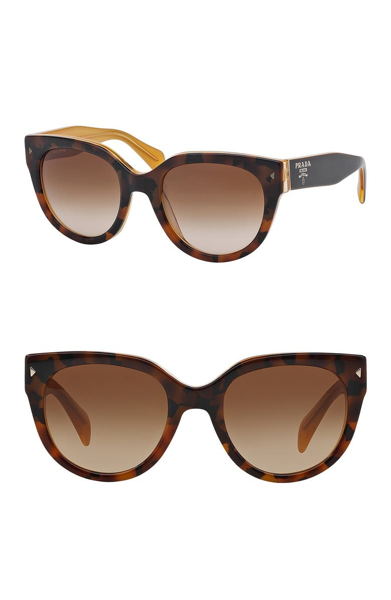 PRADA 54mm Cat Eye Sunglasses, Main, color, 731