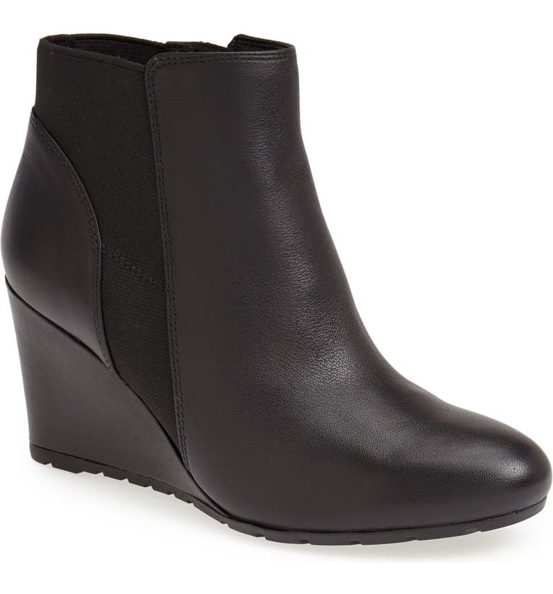CLARKS<SUP>®</SUP> 'Rosepoint Bell' Suede Wedge Boot, Main, color, 003