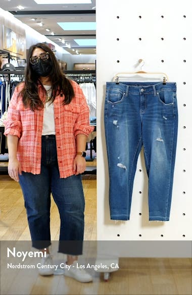 Carter Ripped Crop Girlfriend Jeans, sales video thumbnail