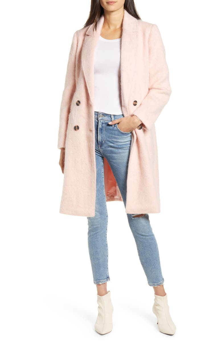 CUPCAKES AND CASHMERE Effie Double Breasted Coat, Main, color, 650