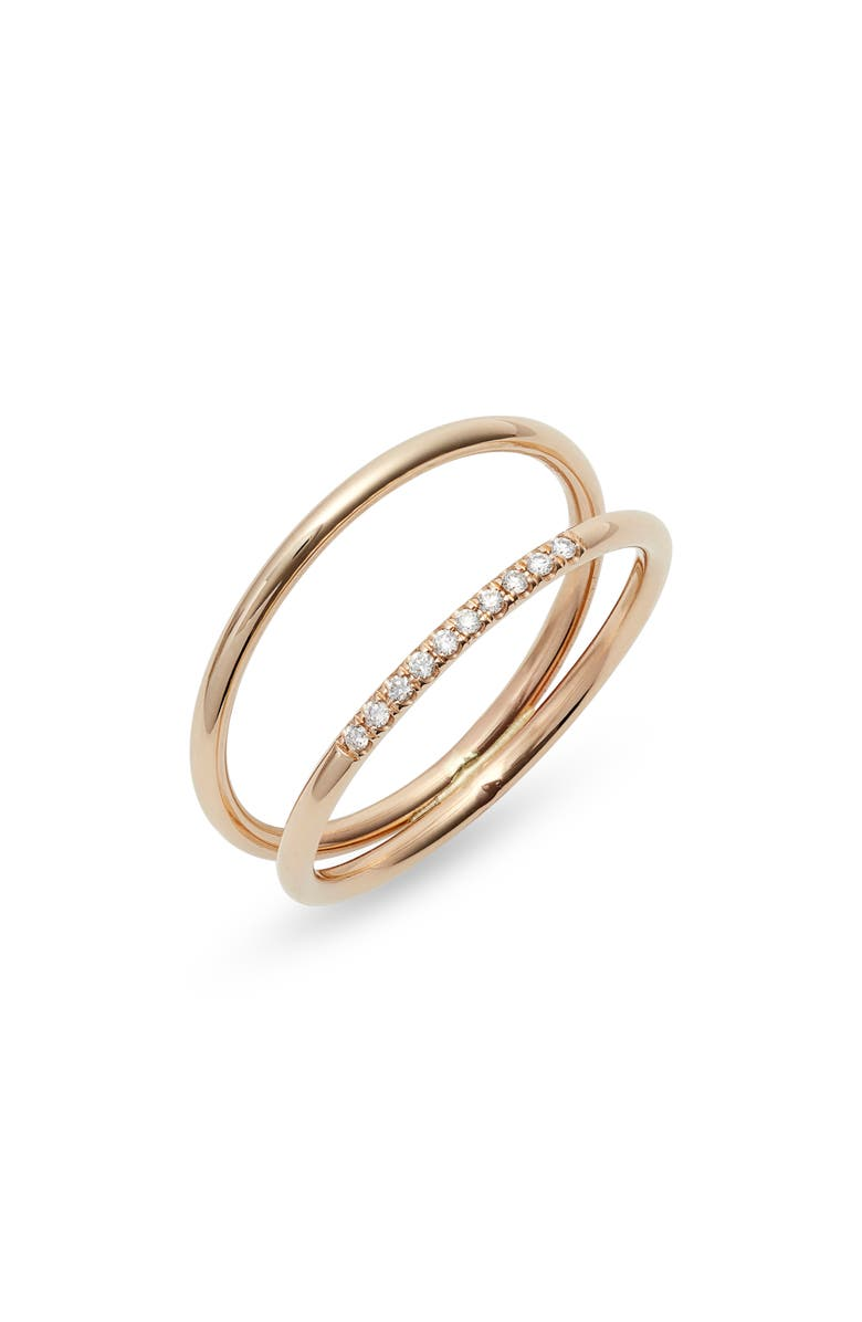 ZOË CHICCO Double Band Ring, Main, color, YELLOW GOLD