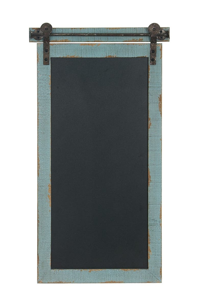 WILLOW ROW Metal Chalkboard, Main, color, BLUE