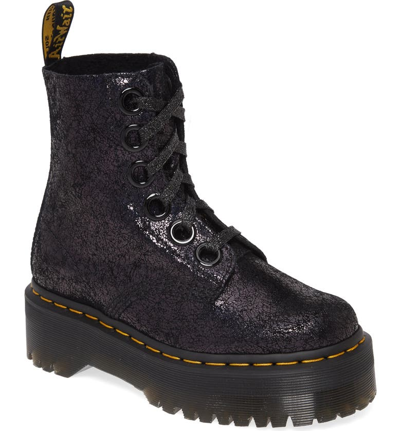 DR. MARTENS Molly Crackle Boot, Main, color, 001