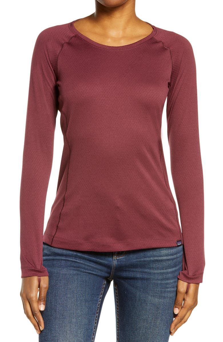 PATAGONIA Capilene<sup>®</sup> Midweight Crewneck Top, Main, color, CHICORY RED -LT CHICORY RED