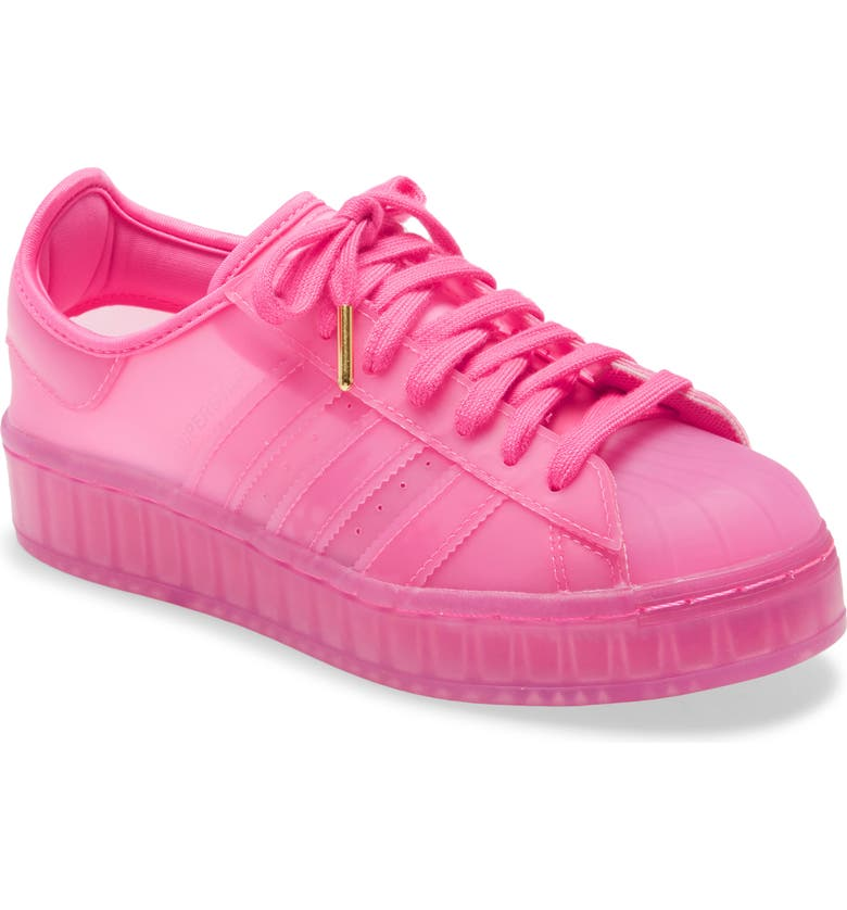 ADIDAS Superstar Jelly Platform Sneaker, Main, color, PINK/ WHITE
