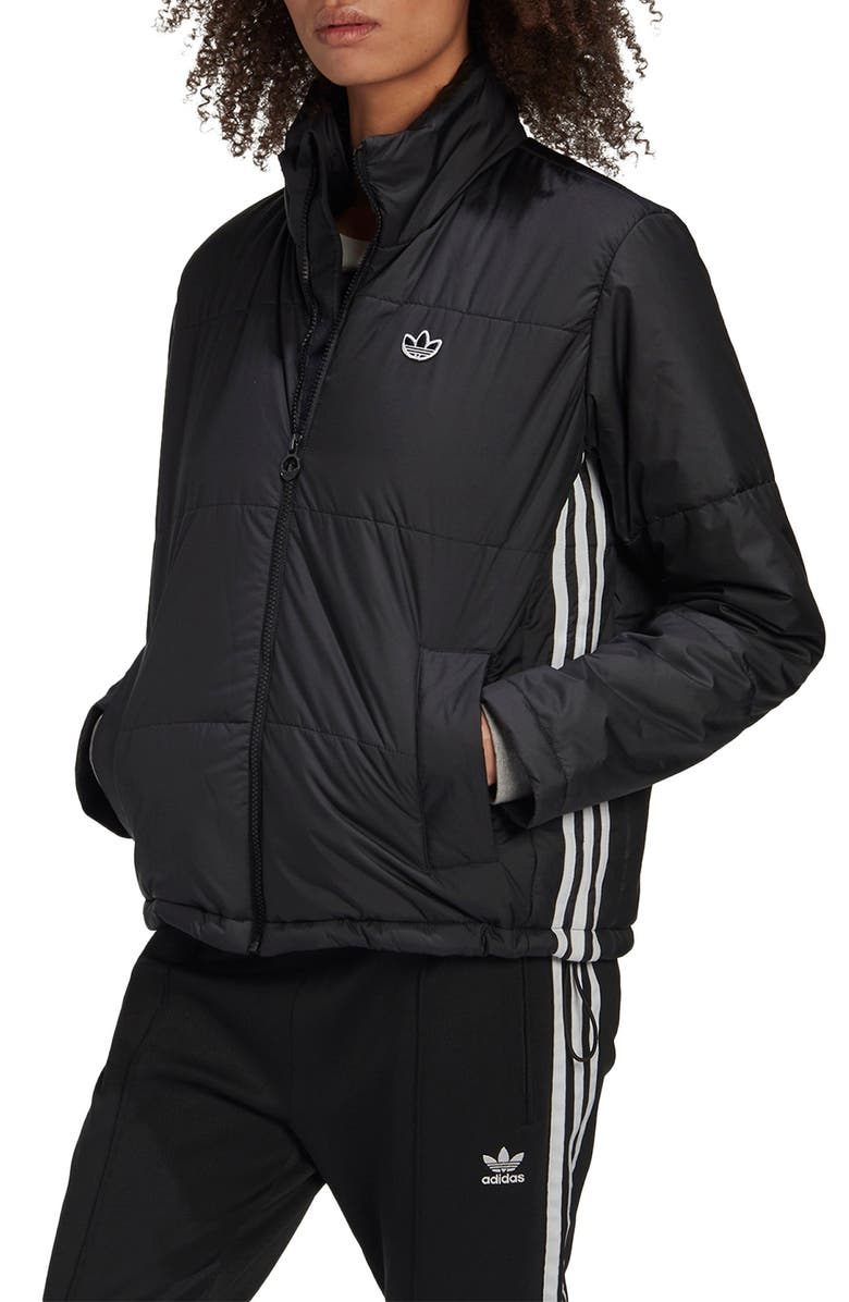 ADIDAS ORIGINALS Short Puffer Jacket, Main, color, 001