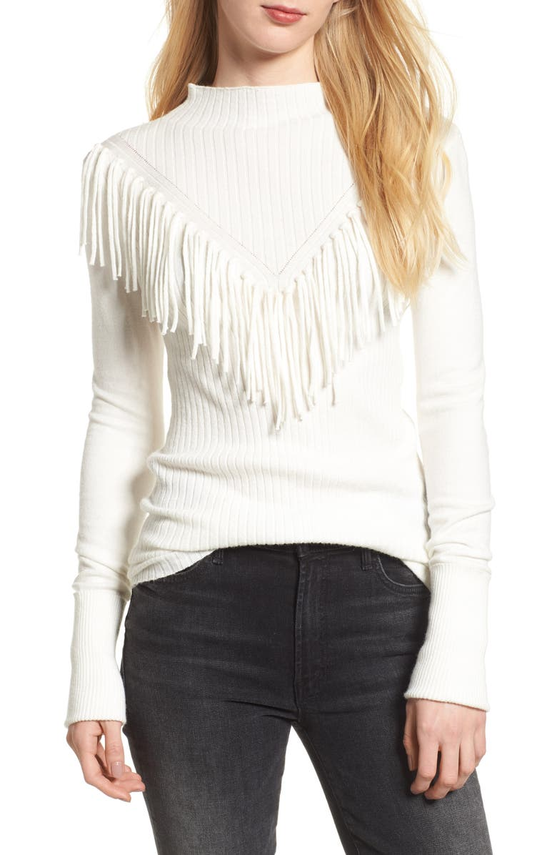 BISHOP + YOUNG Fringe Sweater, Main, color, 900