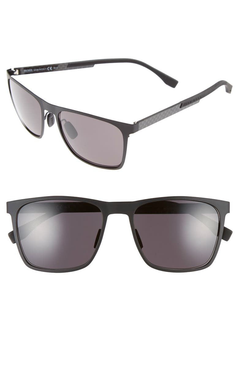 BOSS 57mm Retro Sunglasses, Main, color, 001