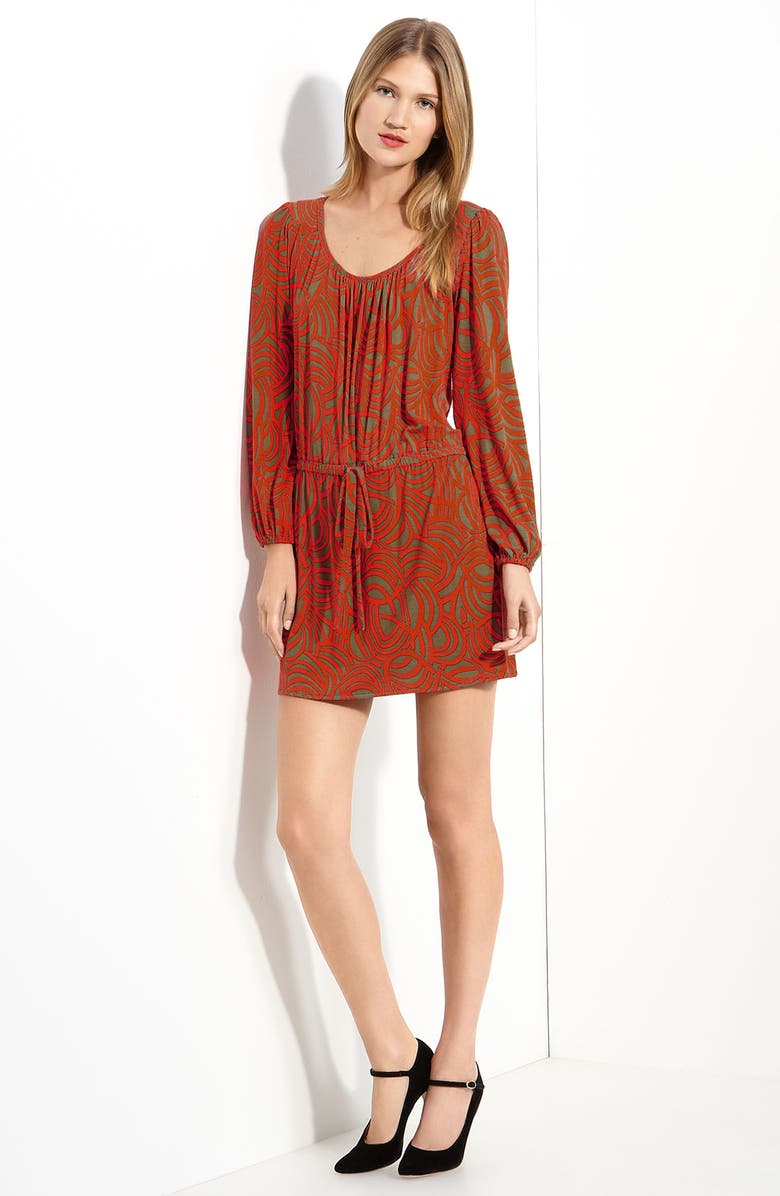 MILLY Printed Jersey Dress, Main, color, 809