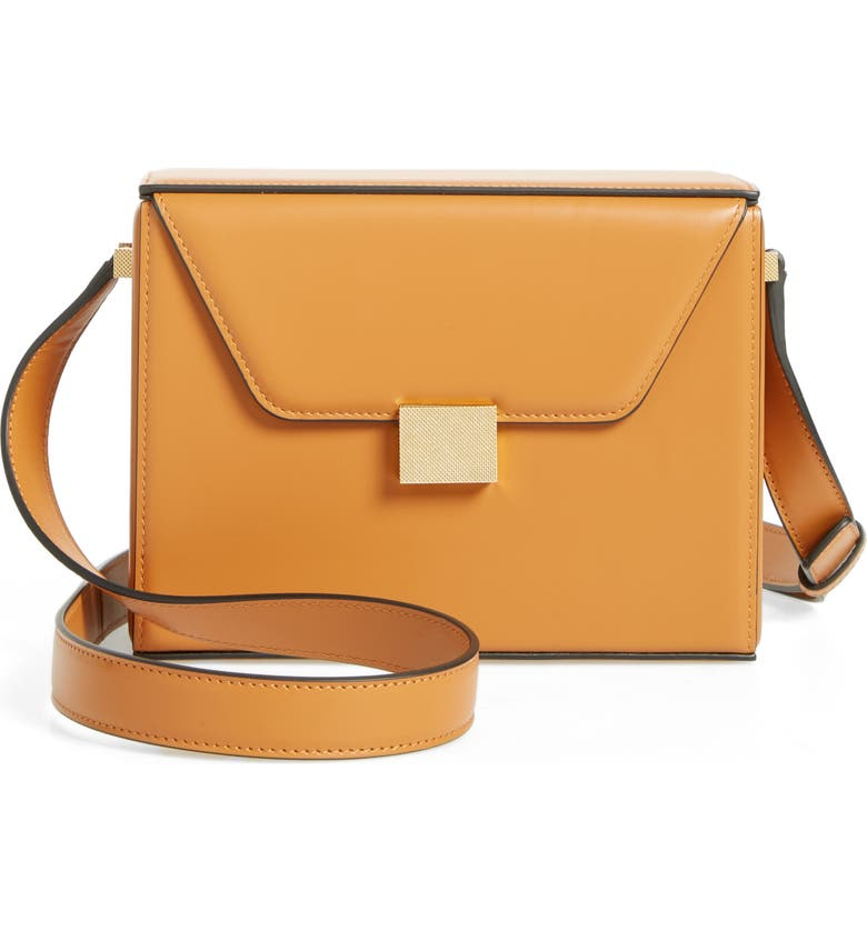 VICTORIA BECKHAM Vanity Calfskin Leather Box Bag, Main, color, 700