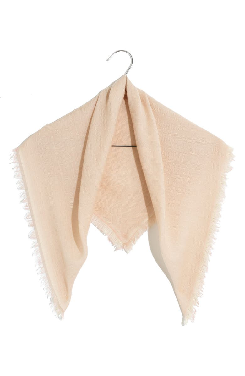 MADEWELL Cashmere Bandana Scarf, Main, color, DUSTY BLUSH