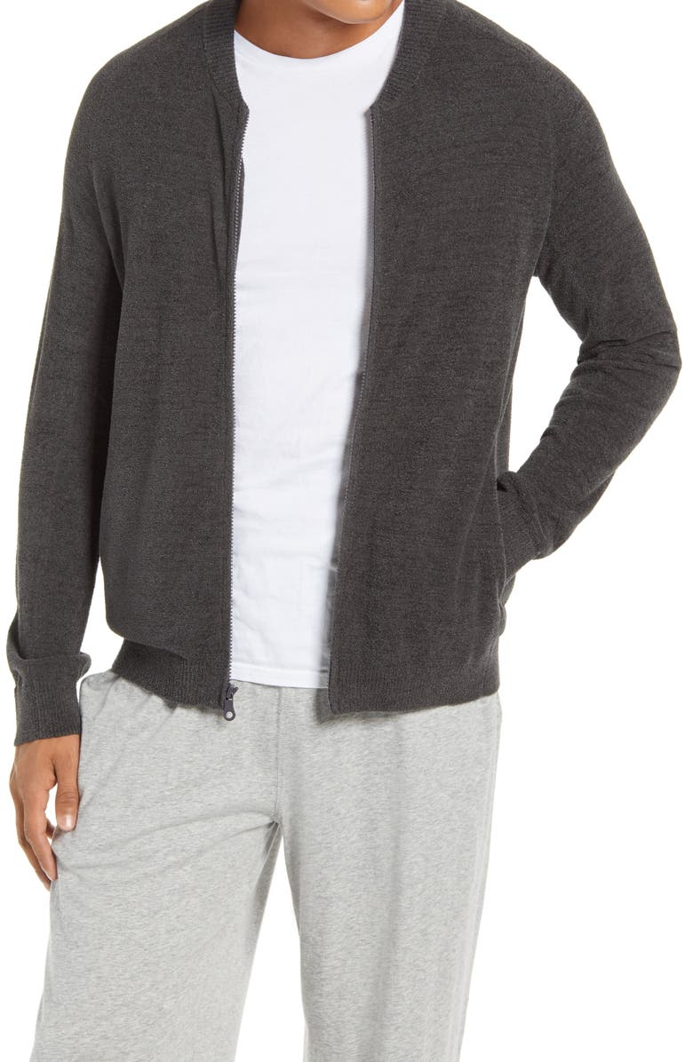 BAREFOOT DREAMS<SUP>®</SUP> CozyChic<sup>™</sup> Lite Zip Cardigan, Main, color, CARBON