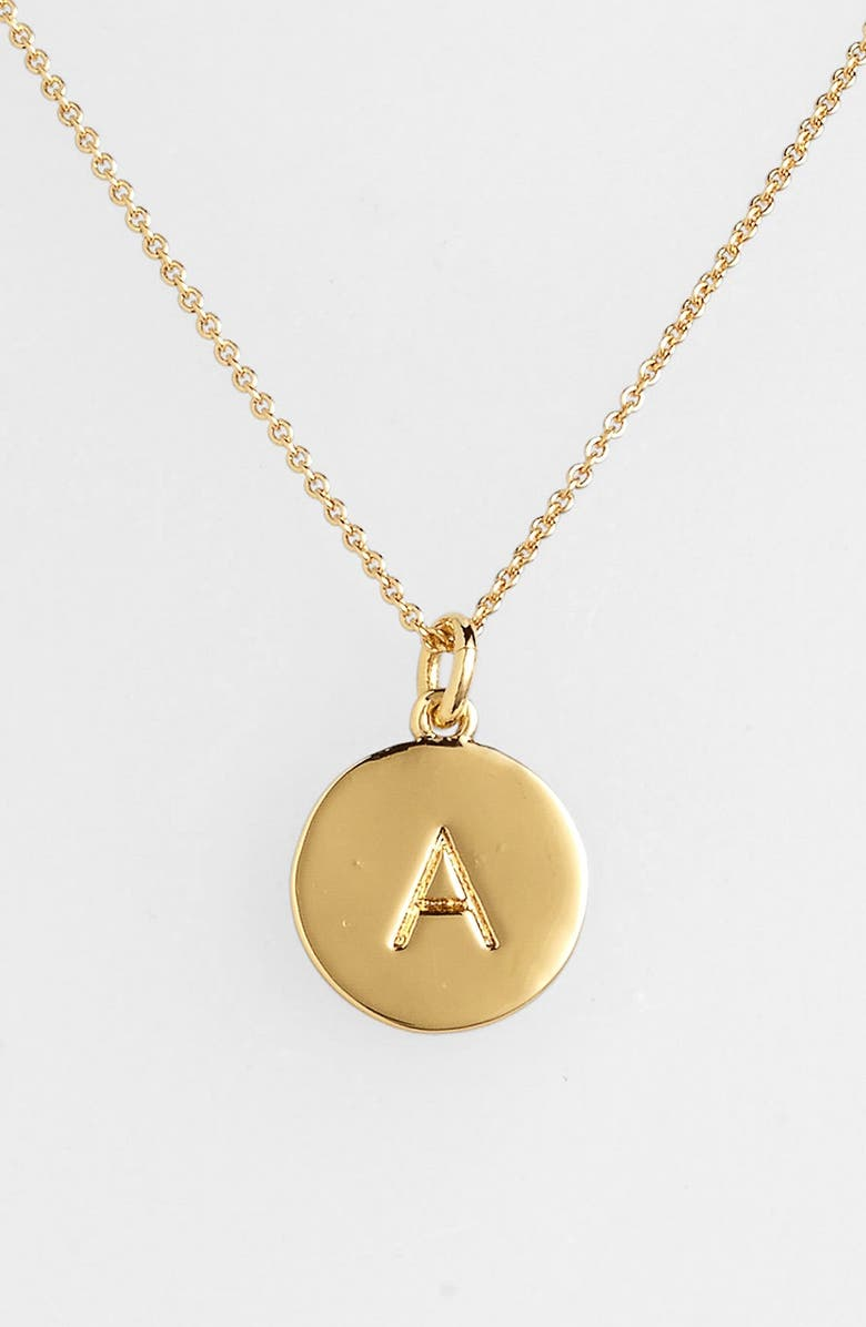 KATE SPADE NEW YORK one in a million initial pendant necklace, Main, color, A- GOLD