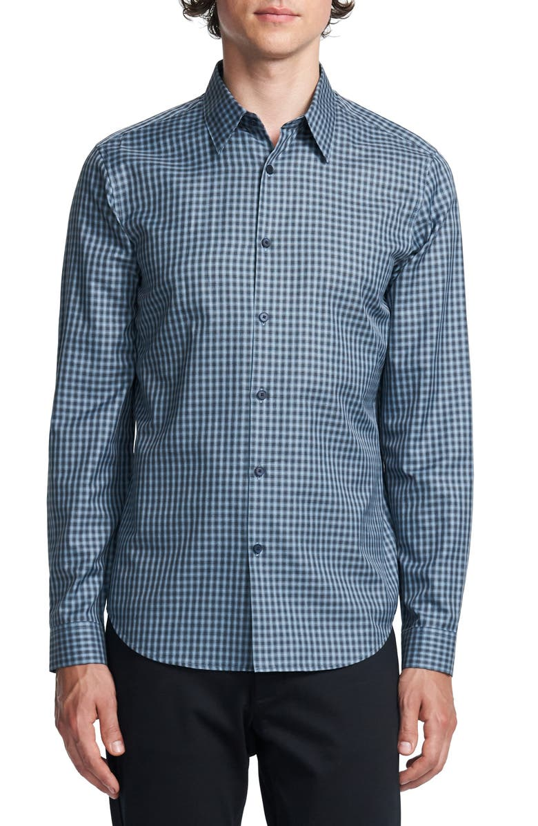 THEORY Irving Slim Fit Check Button-Up Shirt, Main, color, HARBOR MULTI