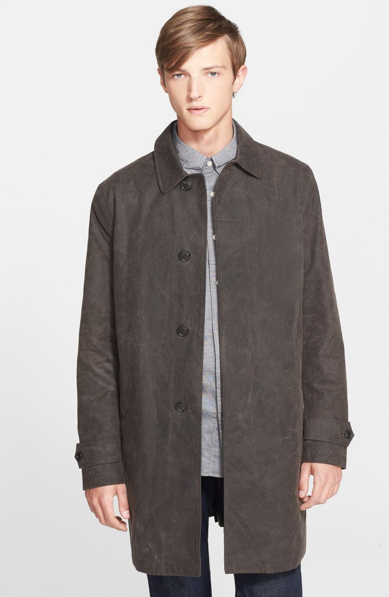 JACK SPADE 'Waxwear' Water Resistant Waxed Canvas Trench Coat, Main, color, 215