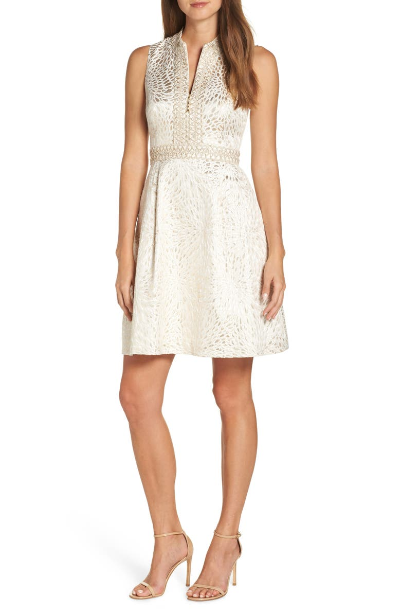 LILLY PULITZER<SUP>®</SUP> Franci Fit & Flare Dress, Main, color, 710