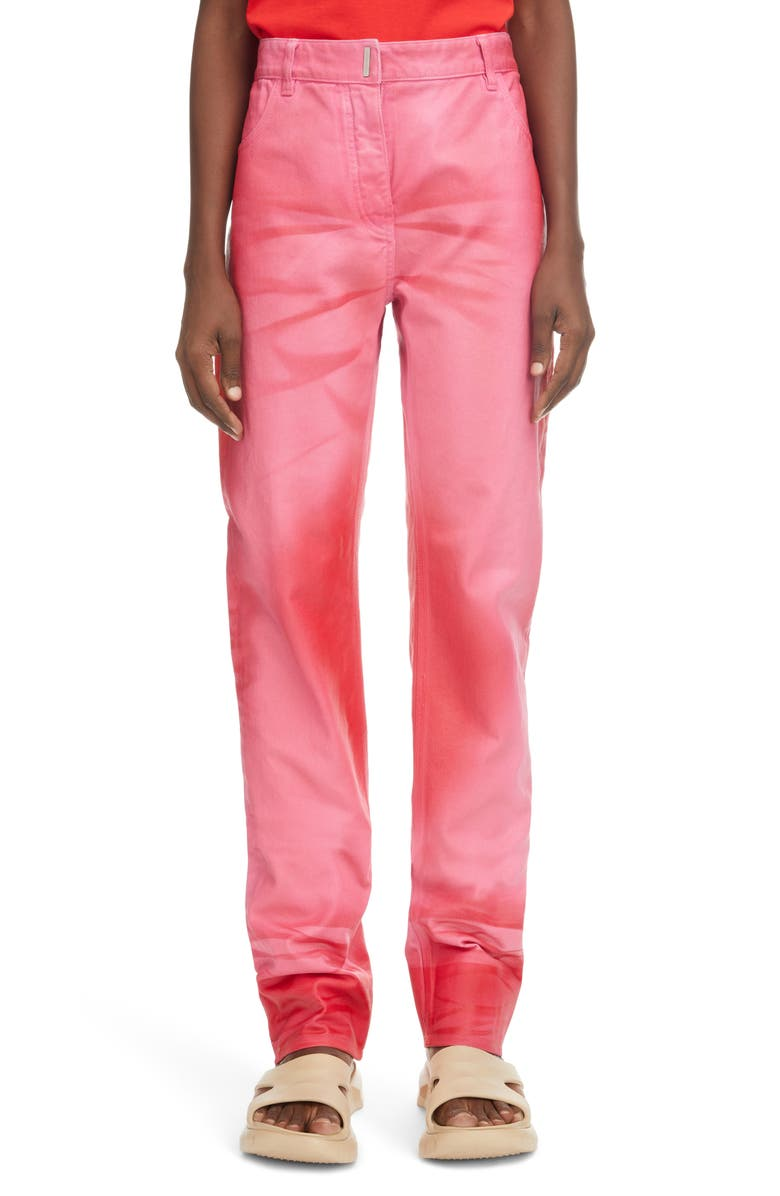 GIVENCHY Straight Leg Jeans, Main, color, PINK