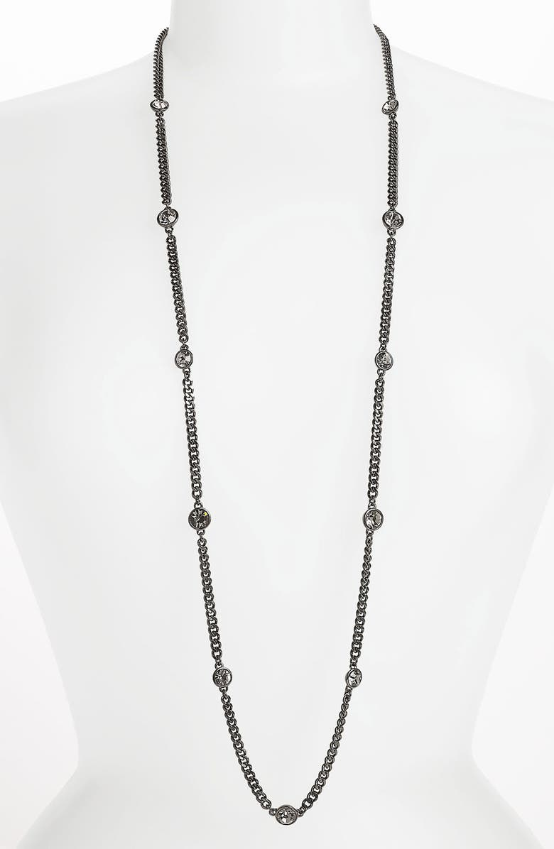 GIVENCHY Long Station Necklace, Main, color, 001