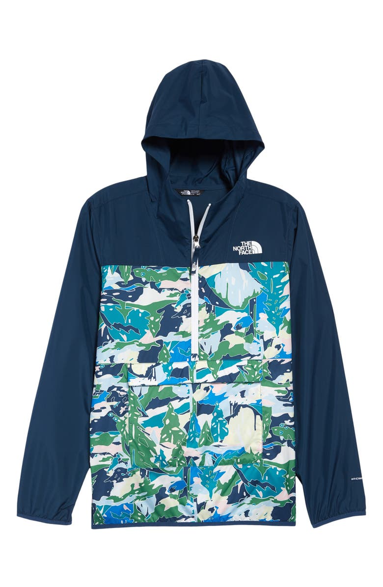 THE NORTH FACE Kids' Fanorak Jacket, Main, color, JAIDEN GREEN VALLEY PRINT