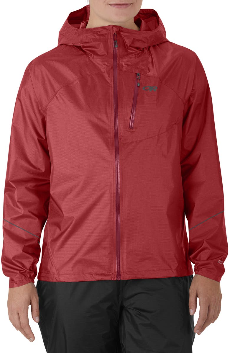 OUTDOOR RESEARCH Helium Women's Rain Jacket, Main, color, CLAY