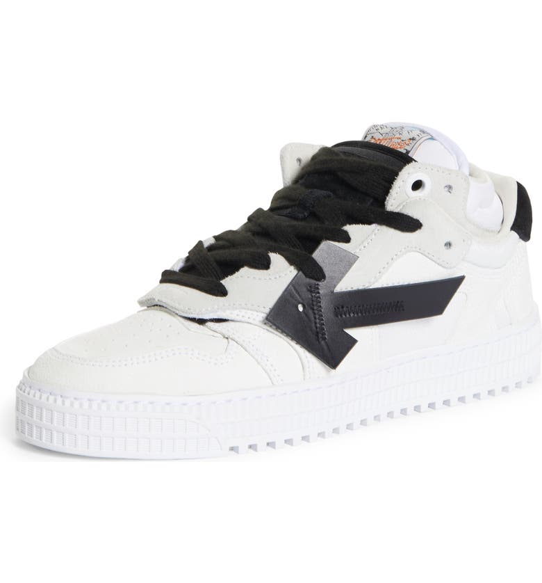 OFF-WHITE Offcourt 3.0 Arrow Low Top Sneaker, Main, color, WHITE/ BLACK