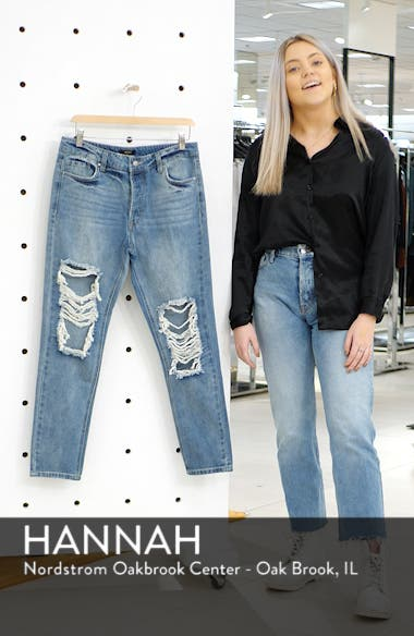 Cyrus Ripped High Waist Ankle Jeans, sales video thumbnail
