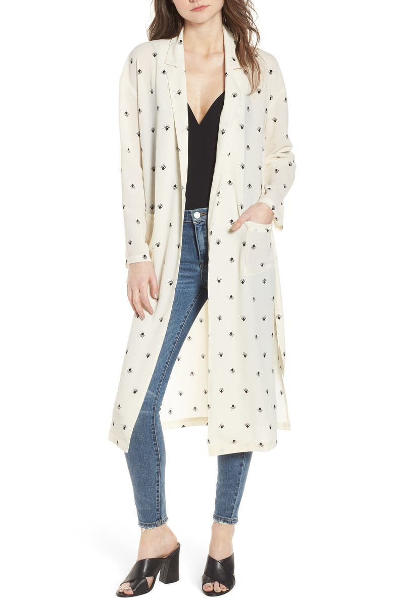 LEITH Print Duster, Main, color, IVORY SKETCH DIAMOND SPACED