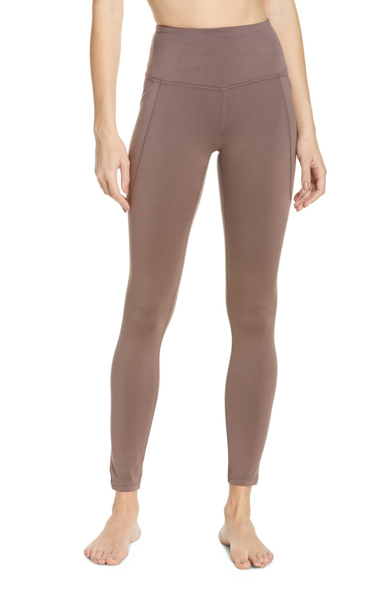 ZELLA High Waist Renew Pocket Leggings, Main, color, GREY SPARROW