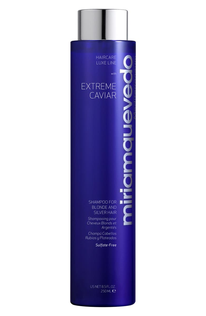 MIRIAM QUEVEDO Extreme Caviar Shampoo for Blonde and Silver Hair, Main, color, NO COLOR