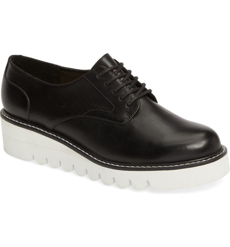 SOLE SOCIETY Kennedy Platform Oxford, Main, color, BLACK LEATHER