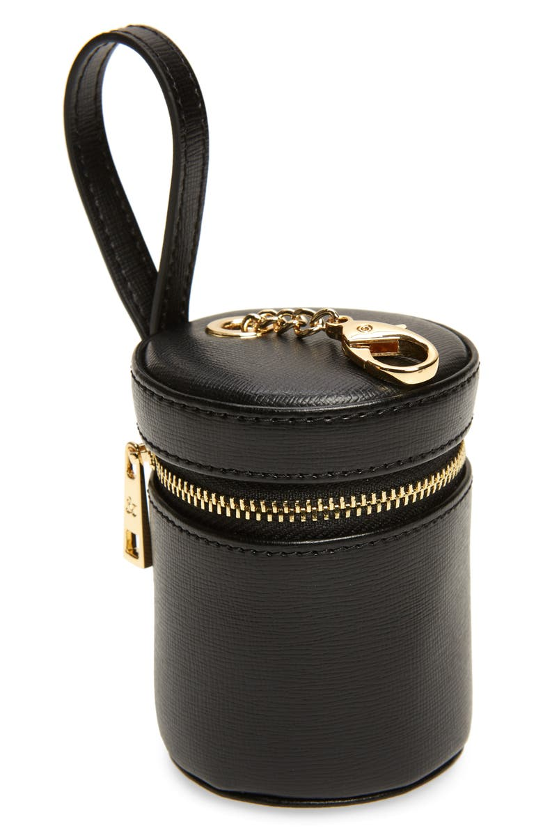 TOMMY AND BELLA Tommy & Bella Signature Collection Leather Treat Bag, Main, color, 001