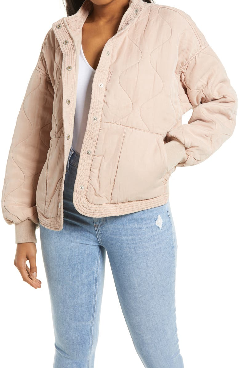 BLANKNYC Quilted Jacket, Main, color, SAND DRIFT