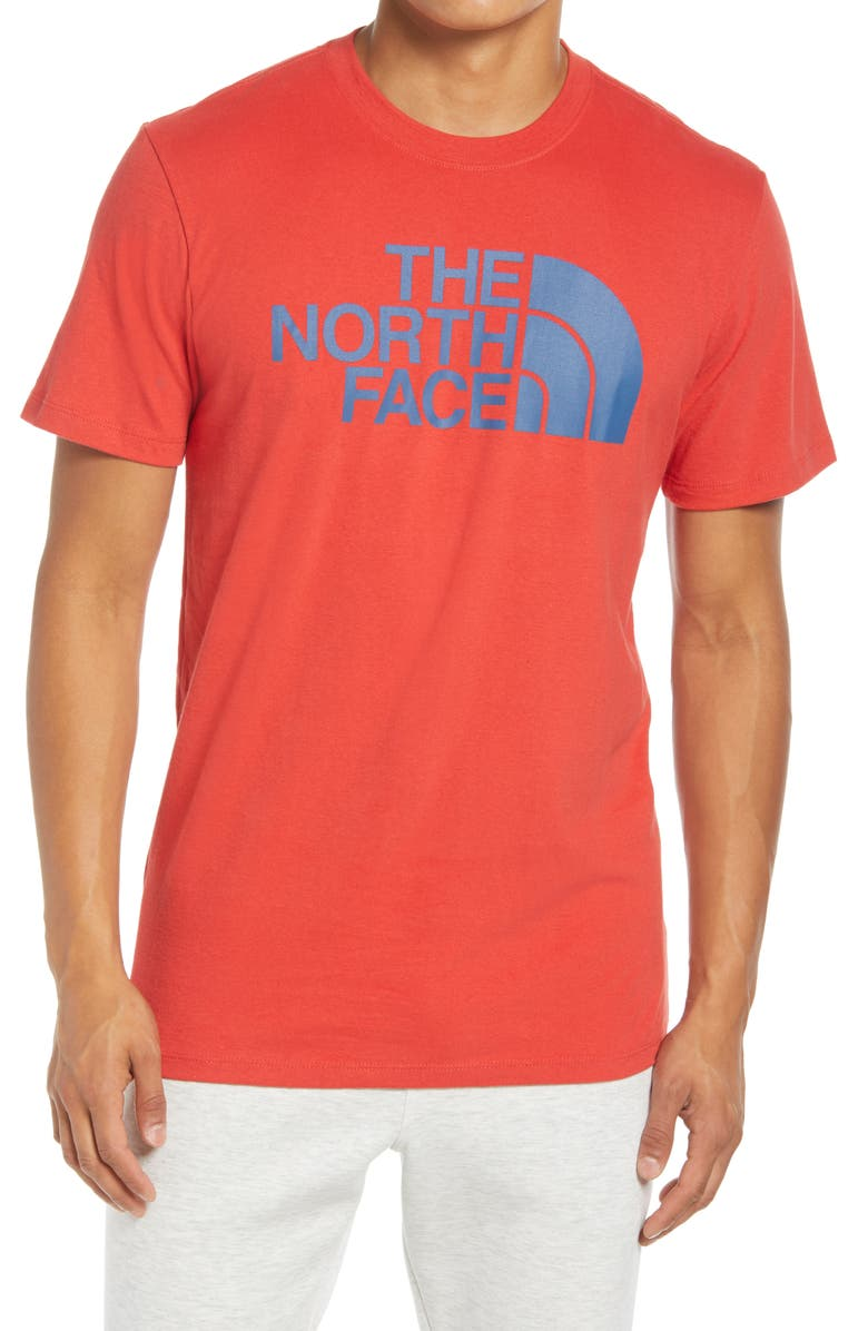 THE NORTH FACE Half Dome Logo Graphic Tee, Main, color, RED