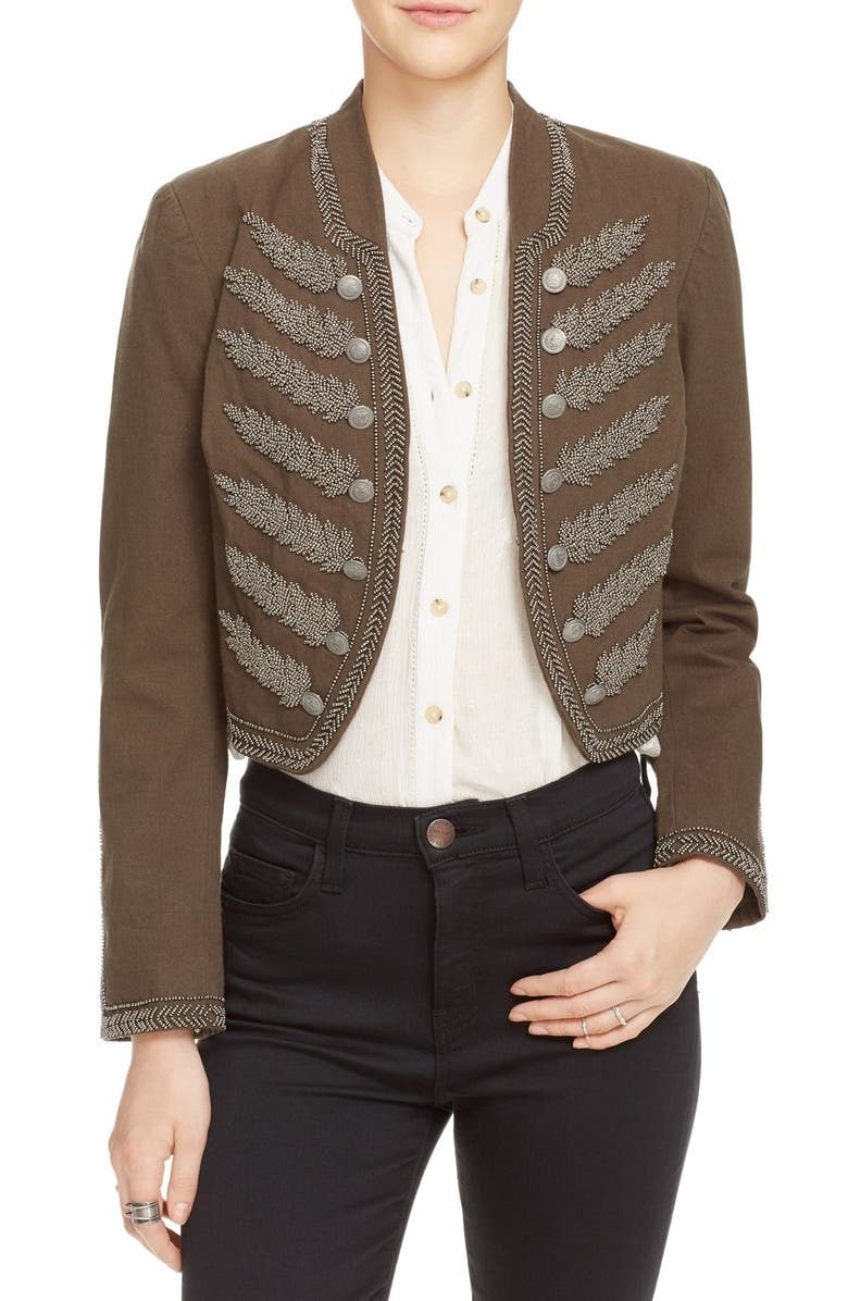 FREE PEOPLE Embellished Band Jacket, Main, color, 300