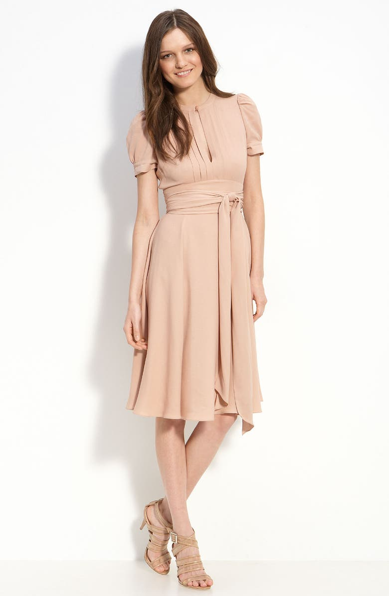 MARC BY MARC JACOBS Puff Sleeve Silk Dress, Main, color, 266