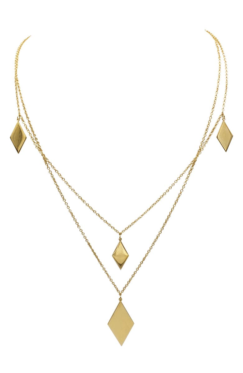 ELLIE VAIL Stassi Layered Necklace, Main, color, Gold